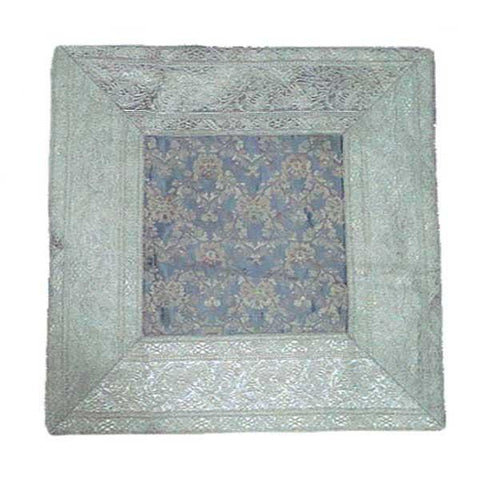 Grey Banarasi Silk Cushion Cover