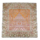 Golden Banarasi Silk Cushion Cover