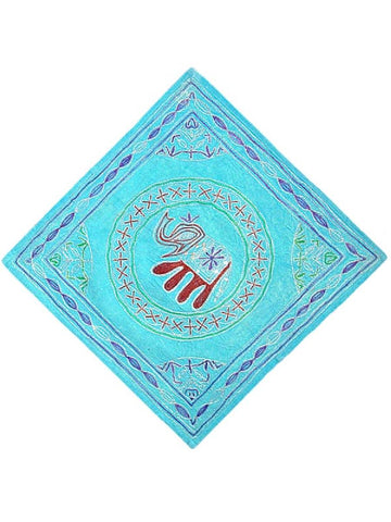 Sky Blue Zari Work Cushion Cover