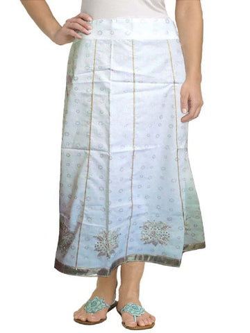 Khadi Print & Beaded Skirt