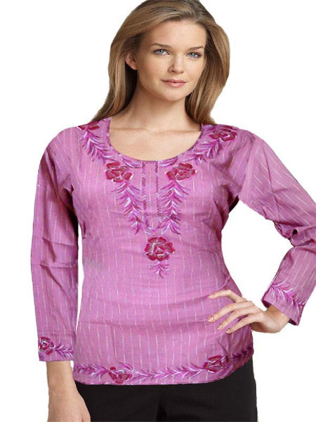 Designer dark Purpal Embllished Kurti