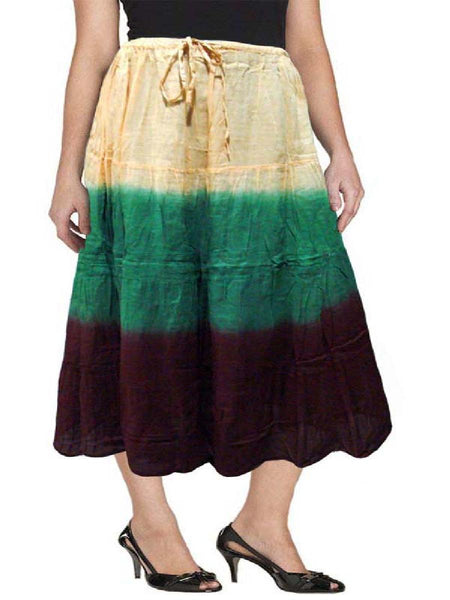 Cotton Cambric Multi color Tie Dye Skirt