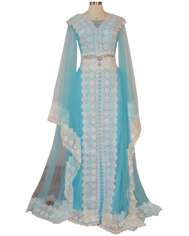 Sky Blue Color islamic kaftan