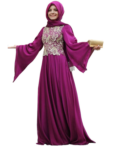Purpal Color Islamic kaftan