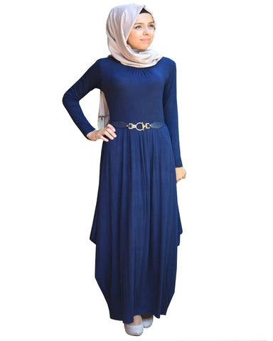 Navy Blue Color Islamic kaftan