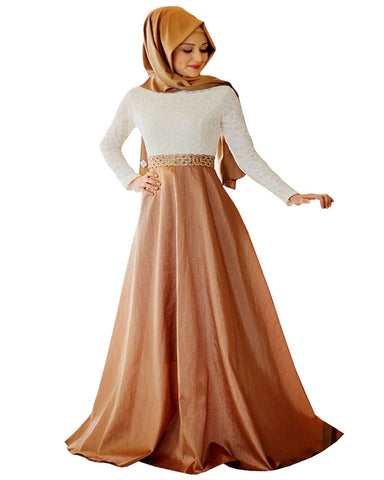Gold Color Islamic kaftan