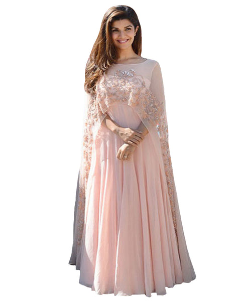 Light Pink Color kaftan gown