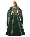 Dark Green Color Kaftan
