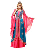 Pink Blue Color Kaftan