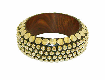 Golden Wooden Bracelets