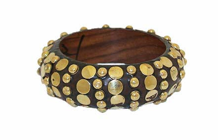 Golden & Brown wooden Bracelets