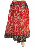Bandhej Red Skirt