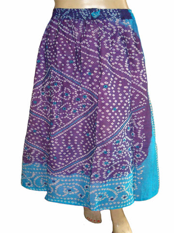 Bandhej Blue Skirt