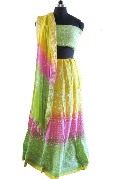 TRIPLE DYED LEHNGA CHOLI