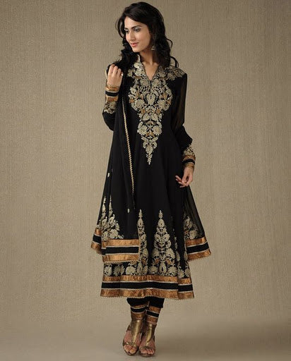 Black shine Salwar Suit