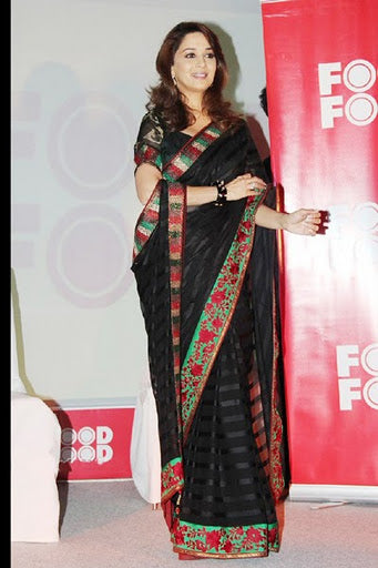 Madhuri Black saree