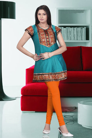 Multi color braid kurti