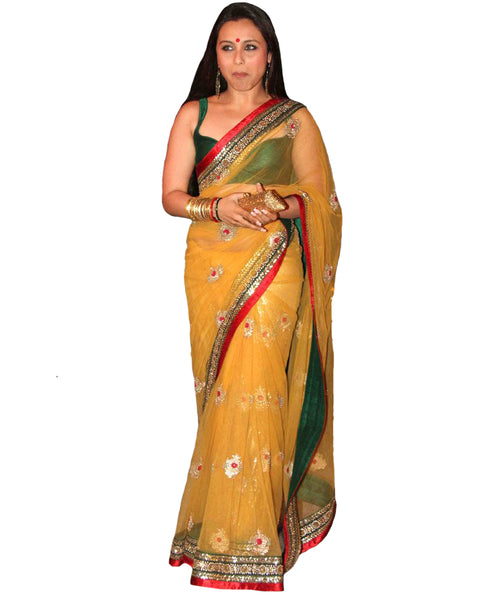 Rani Yellow saree