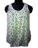 Ditsy Print Sleeveless Top