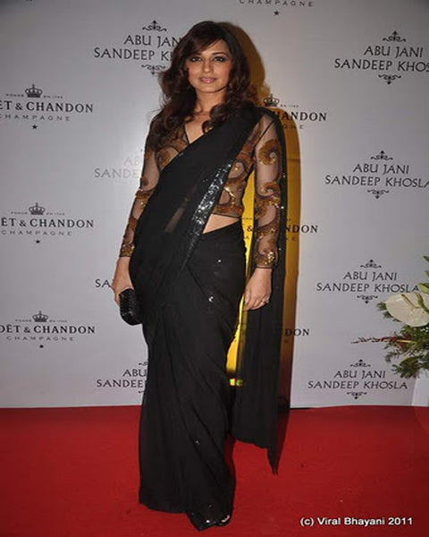 Sonali Black Saree