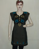 Dark Green Kashmiri Embroidered Kurti