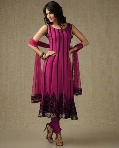 Deep Fuchsia Anarkali Suit