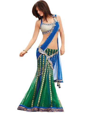 Blue Green Exclusive Lehnga