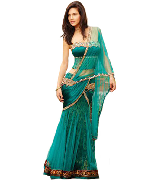 Green Fish cut Lehnga