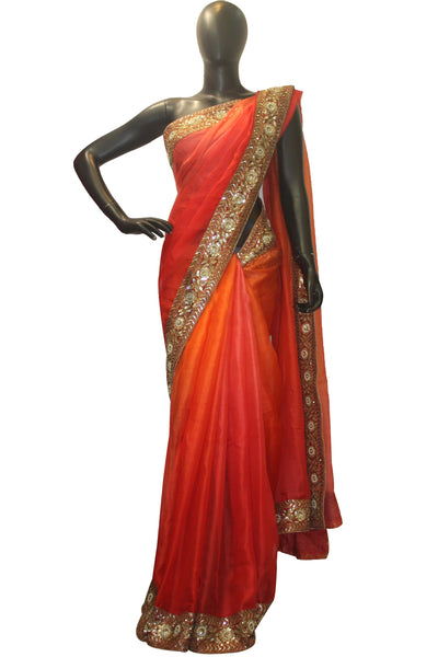 Orange Exiquisite Silk Kota Saree