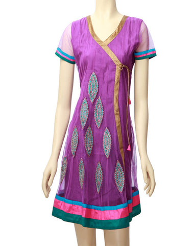 Lavender Embroidered kurti