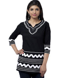 Black And White Cotton kurti