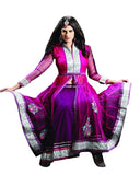 Stylish Rani Pink And Purple Skirt And Blouse