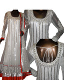 Twinkling White Sequin Embroidered Anarkali