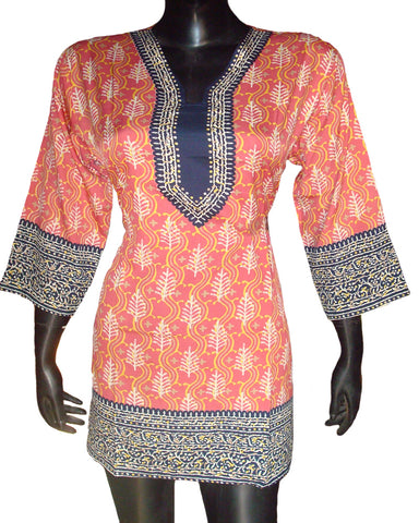 Red Color Batik Print Kurti