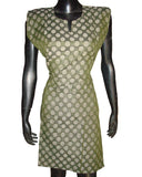 Green Dot Woven Cotton Blend kurti