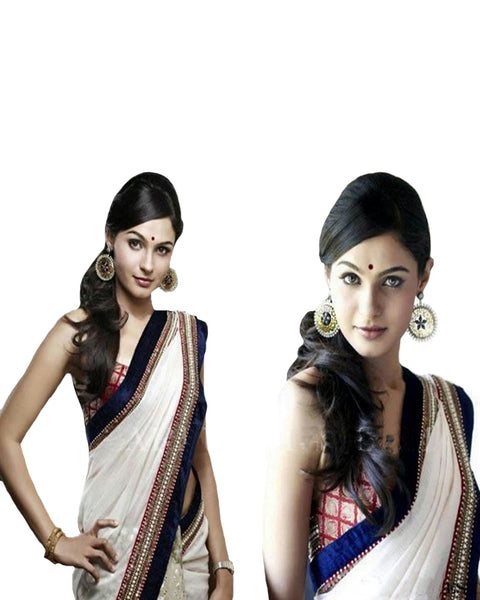 Andrea Jermiaha Exclusive off White Saree