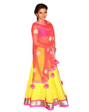 Asin Yellow And Pink Lehnga