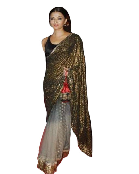 Aishwarya Rai Film Fare Black Saree