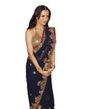 Malaika Arora Blue Georgette Saree