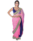 Shreya Saran Pink Net Saree