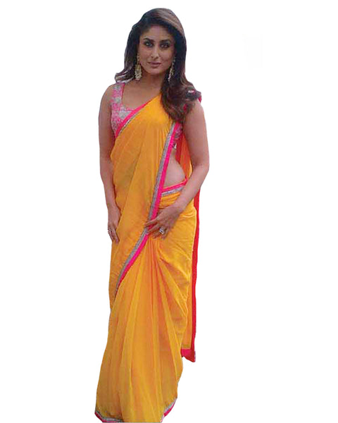 Kareena Yellow Georgette Saree