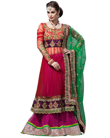 Multi Color Bridal Lehnga