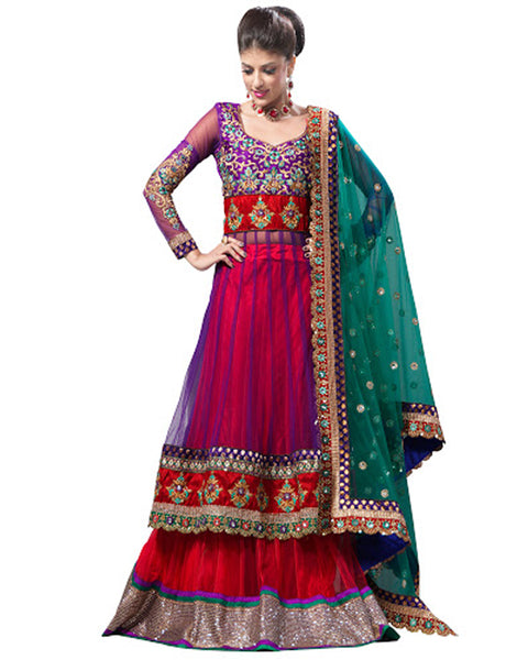 Brick Red Bridal Wedding Lehnga