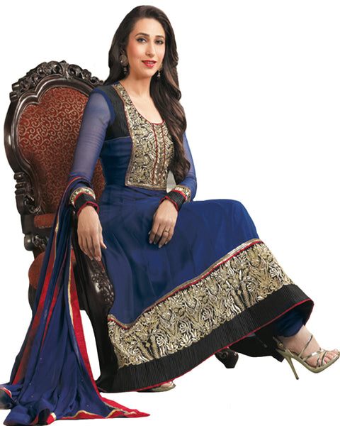 Blue Designer Bollywood Suit