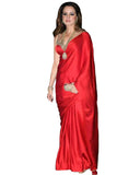 Silk Red Bollywood Saree