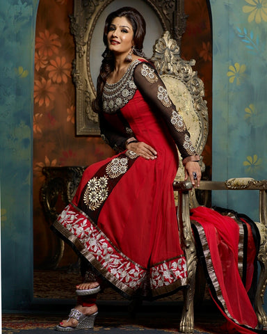 Red Anarkai Bollywood Suit