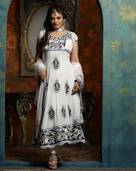 White Designer Bollywood Suit