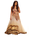 White Brown Bollywood Lehnga
