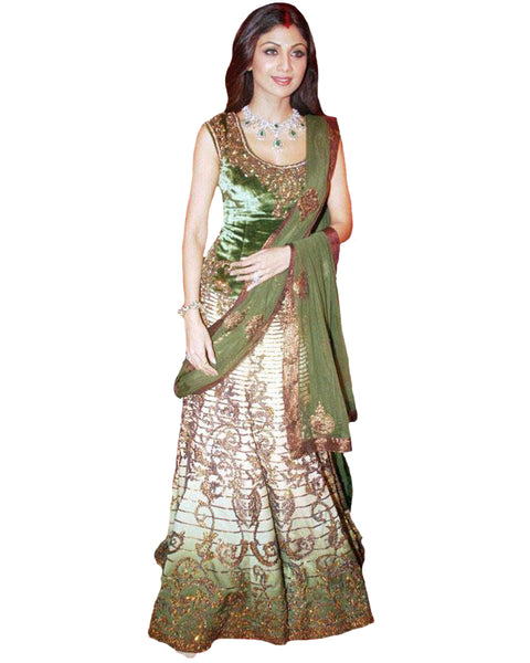 Light Green Bollywood Lehnga