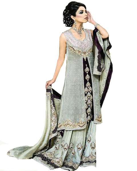 Grey Bollywood Lehnga
